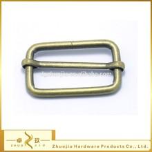 Metal adjustable belt buckle, slider ring