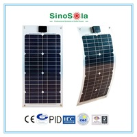 Easy Light Weight mini flexible solar panel for Boat Caravan Golf Car RV Kit Solar System home with TUV/PID/CEC/CQC/IEC/CE