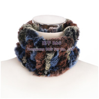 BG30444 Genuine Rex Rabbit Fur Elastic Headband 2015 Fashion