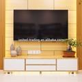 televisión bambú gabinete con dos cajones y 2 casos