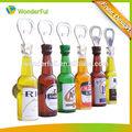 nevera tipo magnético y el logotipo impresas 3d forma de la botella de recuerdo abridor de botellas
