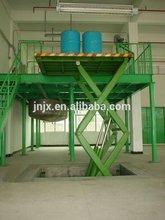 Stationary scissor lifter, warehouse cargo lift elevator