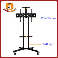 """With firm structure, attractive appearance and convenient movement for monitor 32""""-70"""" Roller base Plasma TV Stand Furniture"""