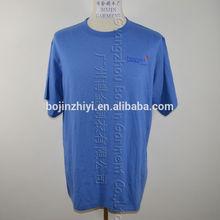 100% cotton popular printed o-neck t-shirt for men custom