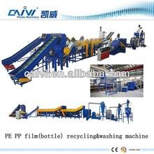 pe pp film bottle crushing washing drying recycling line