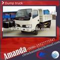 Dongfeng 4*2 95hp 3 tonelada a 5 toneladas utiliza mini camiones dumper, el coche volcado, coches dumper