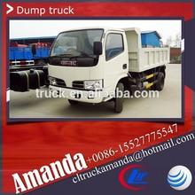 Dongfeng 4*2 95hp 3 ton to 5 ton used mini dumper truck, dump car, car dumper