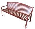 estilo moderno de color rojo de hierro fundido sillas al aire libre para la venta