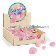 "Gemstone Heart Shape "" Rose Quartz"" Decoration scrafts"