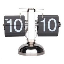 Balance Shaped Metal Auto Flip Down Clock Desktop Decorative Clock