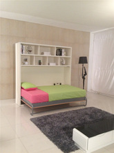 Fashion bed with book shelf