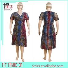 L1874# 2015 casual 1 pezzo xxxxxl grasso abiti delle donne per le donne grasse signore