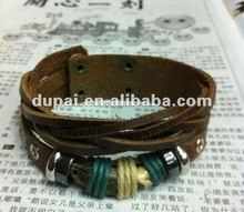 fashion cow bone leather bracelets punk design 2012 for ladies