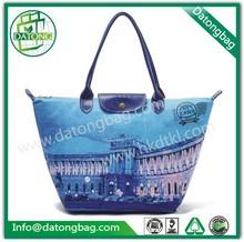 2015 nylon / canvas foldable eco tote bag luxury shopping bag