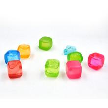 Square Shape Reusable Ice Cube, BPA free cube ice maker