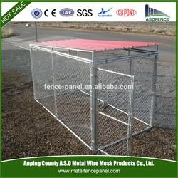 galvanized chain link modular dog kennel