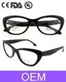 2015 nueva moda gafas de marco de acetato de gafas de gato demi láser a color en marco con el ce de la fda