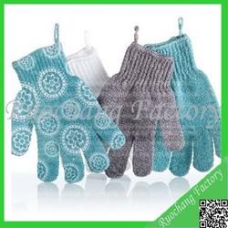 Promotional Thin Nylon Bath Glove Sponge ;Cleaning Sponge Gloves