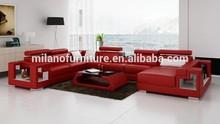 white hot modern u shaped french style leather sofa