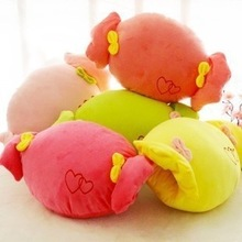 cute and soft plush candy shaped plush pillow / children pillow