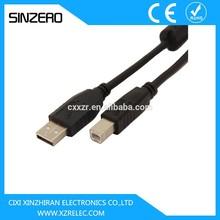 low voltage computer cable /micro usb printer cable XZRU001/usb printer cable