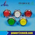 19mm acero inoxidable interruptor de botón 220v con el anillo de luz led de bricolaje interruptor de membrana