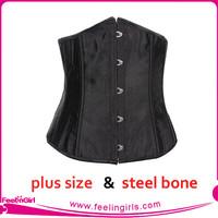 black style fashion full steel boned underbust corsets