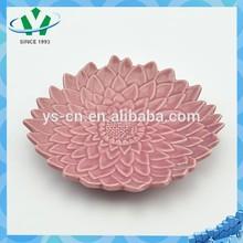 Hot sale beautiful flower design ceramic dishs