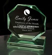 Octagonal Jade Glass Achievement Award MH-J0695