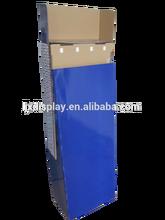 Paper paperboard cardboard floor hooks display stand and racks