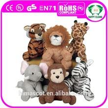 HI CE funny stuffed animal zoo animal set toy for kid
