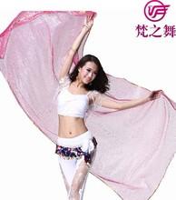 Belly Dance veils with glitter women dance veil scarf Dance accessories 9colors 2.4*1.2m P-9057#