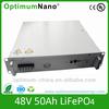 Optimumnano LiFePO4 48V 50AH vehicle battery