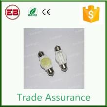 Factory price 2.5W Ceramic Festoon LED Licence Plate Light ,C5W Light Bulbs ,White 31mm/36mm/39mm/41mm Mix SIze