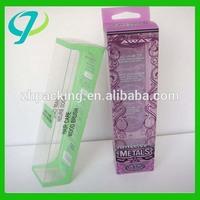 Customized soft crease clear folding pvc plastic display box