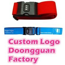 Custom Logo TSA Approved 3-Dial Combination Lock Luggage Strap