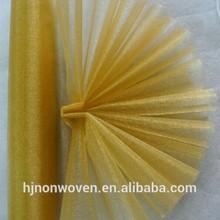 golden organza sheer gauze fabric for home table runner