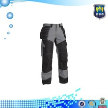 Stitching gray and black color multi-function safety work pants workwear pants for builders
