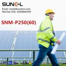 cheap price 250wp solar pv module send to guangzhou warehouse