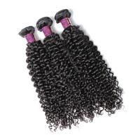 brazilian virgin hair curly 3pcs, curly human raw hair weaving