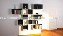 round corner Wall cube shelf oem mdf