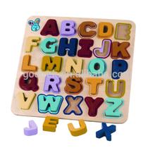 28x27cm Wood alphabet puzzle board