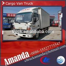 JAC 4*2 120hp 2 ton small dry cargo box truck van