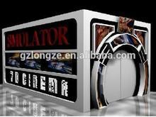 2015 Canton fair 7d 9d cinema game machines movis theater boxes