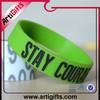 Promotional item high quality silicone wristband for pride parade