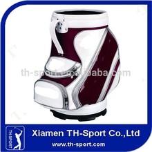 Custom Black Leather Den Caddy Golf Bag Manufacturer