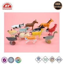 ICTI certificated custom make plastic Farm Animal Small figure Toy chicken Duck Horse Cow Pig