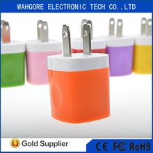 5v-1000mA mini usb charger for iphone charger yellow/black/white/pink/green/grey/red/blue US/EURO TYPE