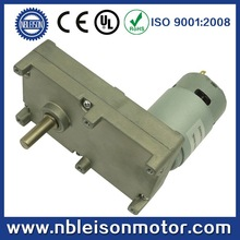 GF775 12v HIGH torque LOW rpm dc gear reduction motor with square gear box, for camera, oven and other home appliance