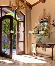 Competitive price of wood glass door design